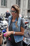 Melissa Satta | Arriving @ Armani Cafe in Milan | May 31 | 5 pics