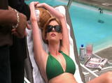 Diora Baird - SHARK - green bikini HOT VIDEO!!!